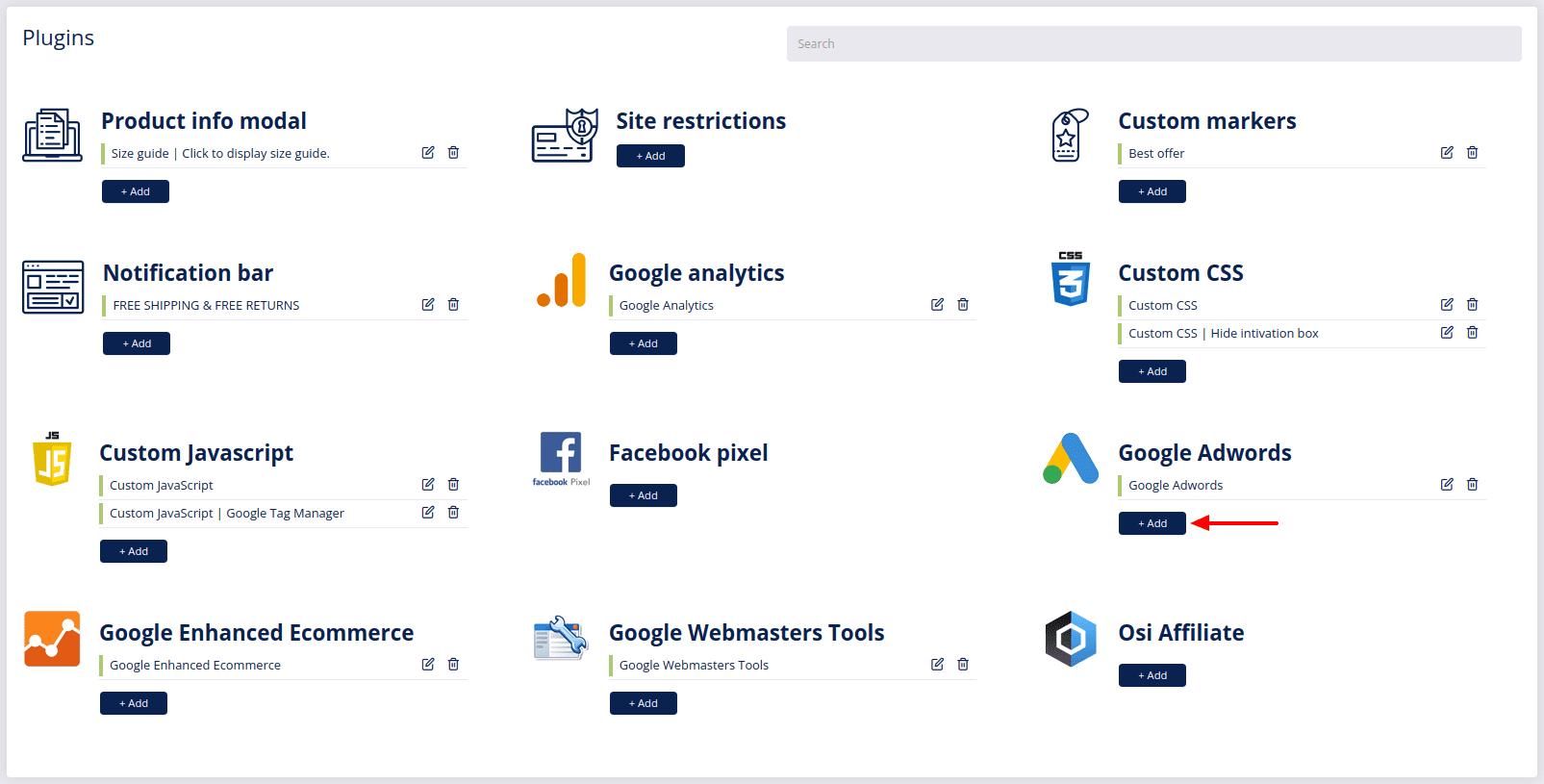 plugins google adwords add