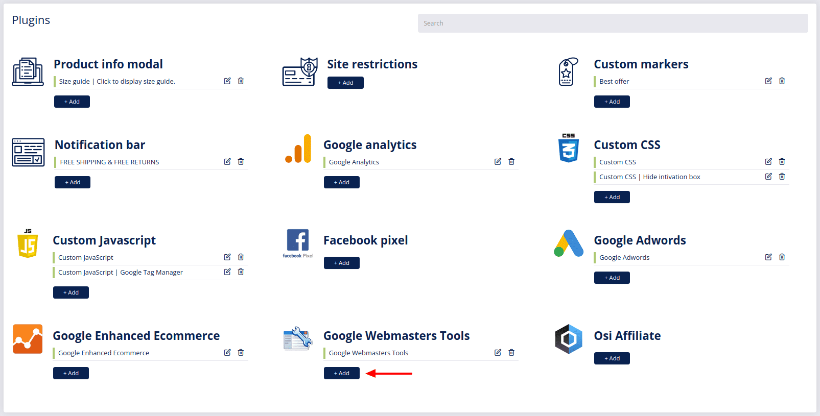 plugins google webmaster add