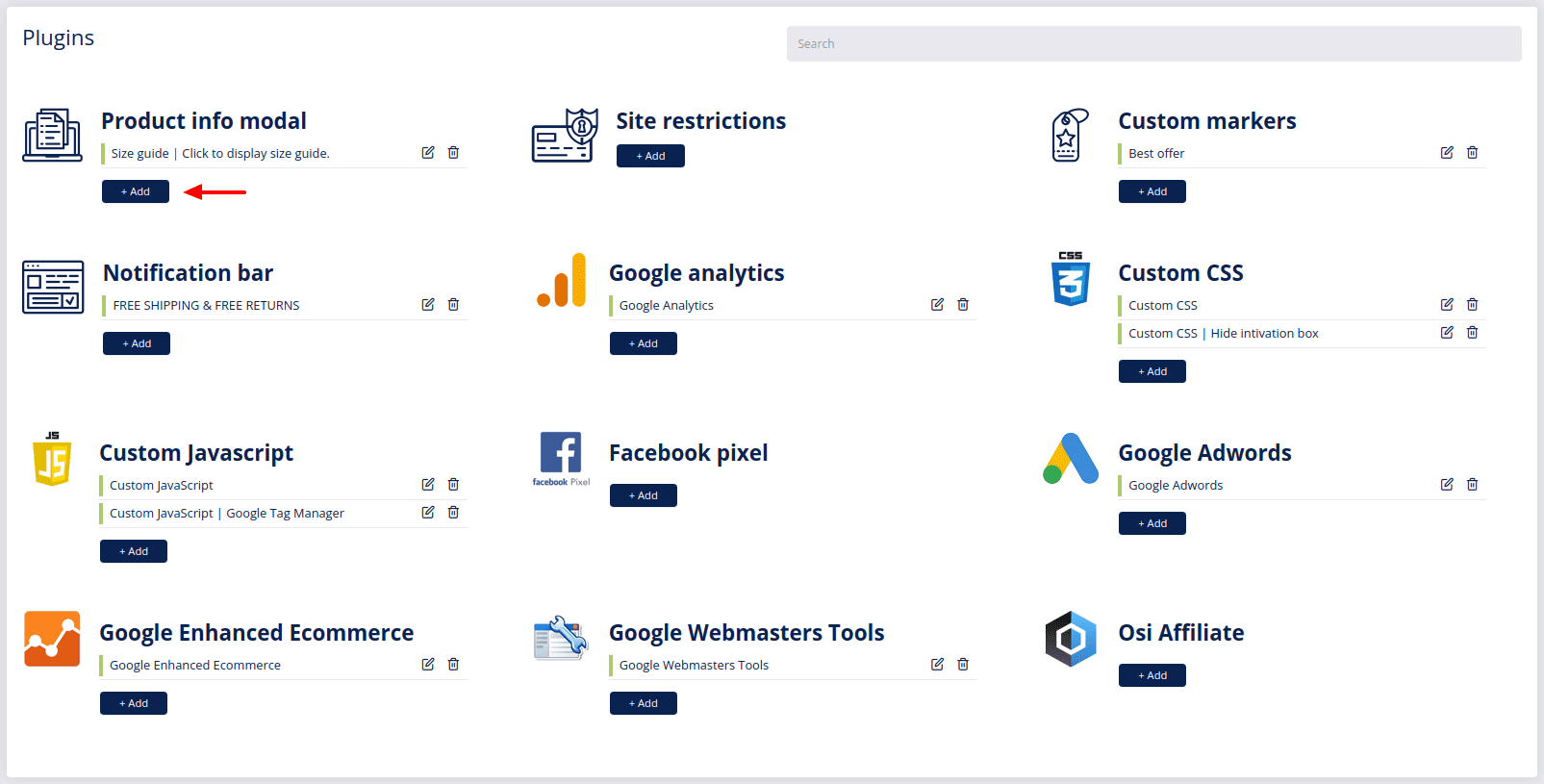 plugins product info modal add