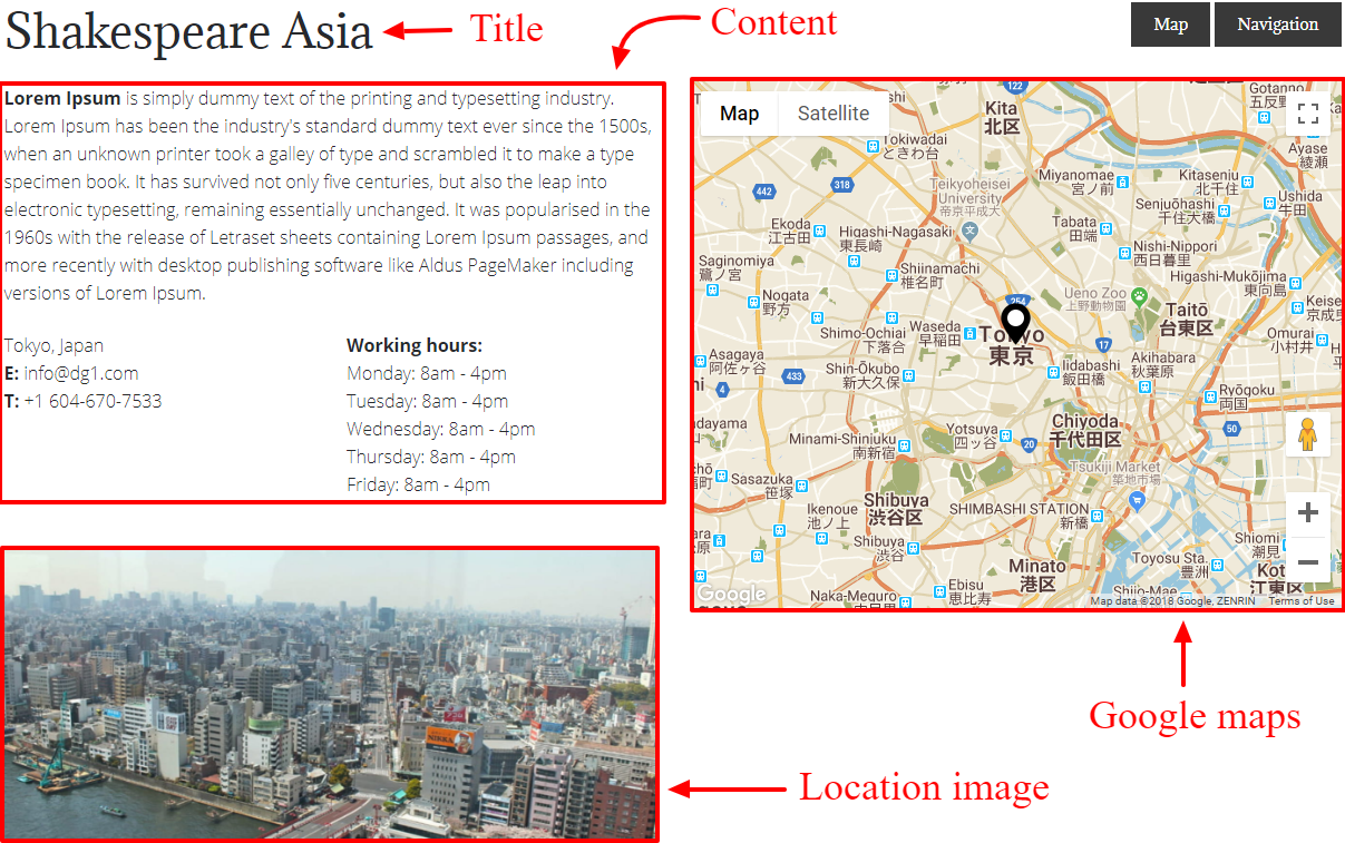 Asia location Shakespeare