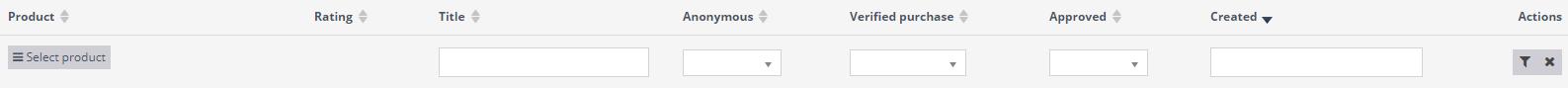 Reviews search bar