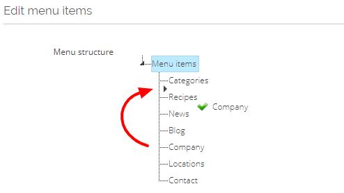 edit menu drag
