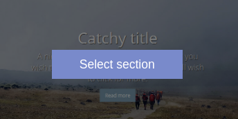 select section