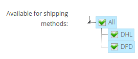 Limit paymenth metod by shipping