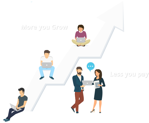 more you grow less you pay