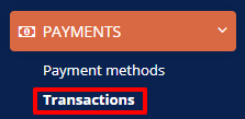 Payments transactions