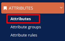 attributes menu