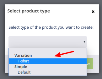 add product variation