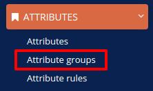 attribute groups menu
